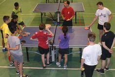 Dernière séance de tennis de table à Vittel, ce 13 juillet. Retour à la salle de…