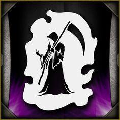 Grim Reaper 8 Airbrush Stencil Template Airsick