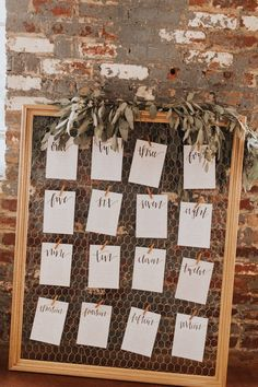 This framed chicken wire wedding seating chart is perfect for any rustic wedding. - - This framed chicken wire wedding seating chart is perfect for any rustic wedding… This framed chicken wire wedding seating chart is perfect for any rustic wedding Rustic Seating Charts, Rustic Wedding Seating, Table Seating Chart, Seating Chart Wedding, Wedding Table Numbers, Wedding Table Planner, Reception Seating Chart, Wedding Tables, Chicken Wire Frame