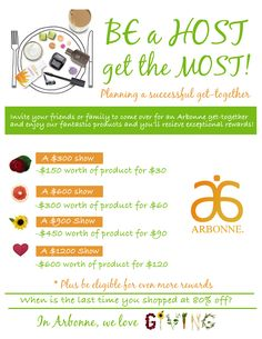 Host Rewards are amazing!! Arbonne is an amazing company!