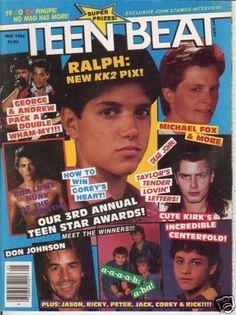 #14 best 80s magazine. Teen beat #KickinItAppleCheeks