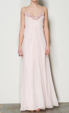 Carolina Herrera Light Pink And Mauve Chiffon Dress   VAUNTE $300!!!