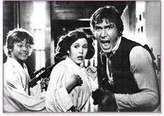 STAR WARS: Behind the Scenes | Mark HAMILL (Luke SKYWALKER), Carrie FISHER (Leia ORGANA) and Harrison FORD (Han SOLO) | Episode IV : A New Hope (1977)