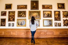 With a rich history, beautiful baroque architecture, and the world's largest collection of Gustav Klimt artwork -- Vienna's Belvedere Palace is a must see destination. Baroque Architecture, Vienna Austria, Gustav Klimt, Photo Essay, Luxury Travel, Best Hotels, Museums, Worlds Largest, Palace
