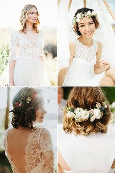 20 Totally Chic On-Trend Ways to Style Your Bridal Bob / Lob! Boho Look