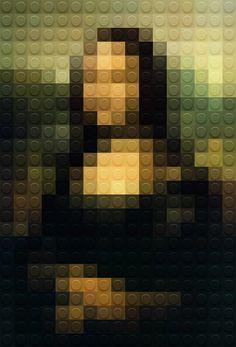 mona lisa in lego, poster by marco sodano #legoart