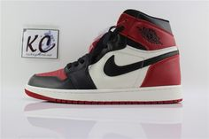 """0c321b000472bc Air Jordan 1 Retro High OG """"Bred Toe"""" 555088-610"""