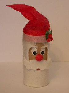 Caja rollo papel higiénico Santa Claus, Papá Noel Christmas Toilet Paper, Christmas Arts And Crafts, Retro Christmas, Simple Christmas, Toilet Roll Craft, Toilet Paper Roll Crafts, Xmas Ornaments, Christmas Decorations, Decor Crafts