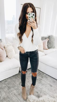 Flawless Summer Outfits Ideas For Slim Women That Looks Cool - Oscilling Cute Winter Outfits, Fall Fashion Outfits, Casual Fall Outfits, Look Fashion, Autumn Fashion, Womens Fashion, Cute Simple Outfits, Fashion Styles, Amazing Outfits