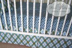 Crib Bedding Crib Sheet and Crib Skirt by MissPollysPieceGoods, $138.00