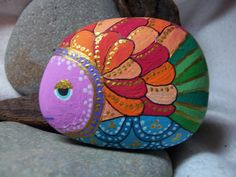 taş boyama balık