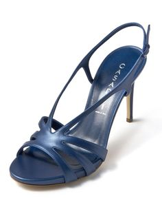 CASADEI - leather back strap open toe sandals