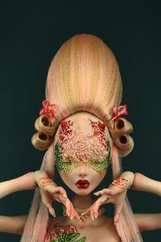 Double Image: Rafael Nuri designs porcelain BJDs that are doubly impressive New Dolls, Ooak Dolls, Monster High, Bjd, Sculpture Art, Sculptures, Double Image, Briar Rose, Creepy Dolls