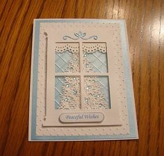 Stampin Up Christmas Window Handmade Card- Winter, Tree, with Embossing | eBay