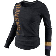 Baltimore Ravens Pop Print Long Sleeve T-Shirt - Black