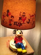 RARE Vintage Walt Disney Dolly Toy Company Lamp Nursery Mickey Mouse Clubhouse