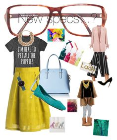 """I need new glasses"" by susiecardi on Polyvore featuring Yves Saint Laurent, Sans Souci, Kate Spade, Nine West, Valentino, Abbott Lyon, MANGO, Miss Selfridge, Under Armour and WithChic"