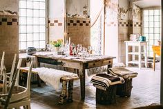 A charming boho dairy in the Swedish countryside