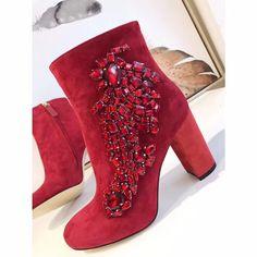 47bfd30d827c Shaduo 171023001 Модные женские замшевые из овечьей кожи женские ботильоны  на высоком каблуке, Womem ручной работы со стразами кожаные ботинки купить  на ...