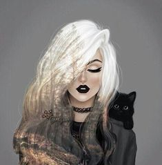 Image about cute in ♕★Girly_M★♕ by ℋ ℴ ℘ ℯ l ℯ હ હ Beautiful Drawings, Beautiful Artwork, Cute Drawings, Beautiful Images, Art And Illustration, Dark Art, Art Sketches, Art Girl, Amazing Art