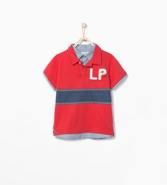 Imagen 1 de Polo detalle camisa estampada de Zara