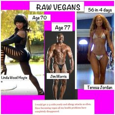 Raw Vegans.... Would like to point out though. Black people don't age as bad as white people :(