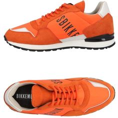 Bikkembergs Low-tops & Sneakers (2.597.930 IDR) ❤ liked on Polyvore featuring shoes, sneakers, orange, round cap, bikkembergs shoes, orange sneakers, round toe sneakers and orange shoes