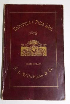 A. J. Wilkinson U0026 Co Trade Catalogs And Billheads 1875   1906