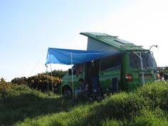 Homemade awning / sun canopy for a VW T5 Campervan