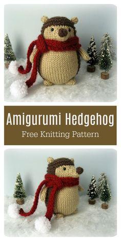 Animal Knitting Patterns, Christmas Knitting Patterns, Stuffed Animal Patterns, Crochet Patterns, Knitting For Kids, Free Knitting, Knitting Projects, Baby Knitting, Knitting Toys