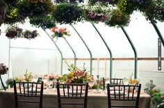 Greenhouse wedding setting designed by  shot by | VIA #WEDDINGPINS.NET