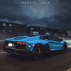 Blue Chrome Aventador