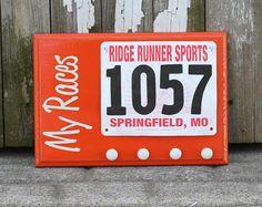 Running Race Bib and Running Medals Holder - My Races. $25.00, via Etsy.