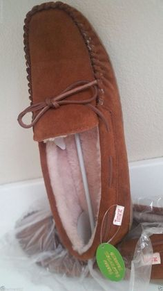 Tamarac Men's Suede Shearing Moccasin Slippers Indoor Outdoor Size 12M Arlington…