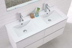 Madero - Double Basin Wall Hung Vanity modern bathroom vanities and sink consoles