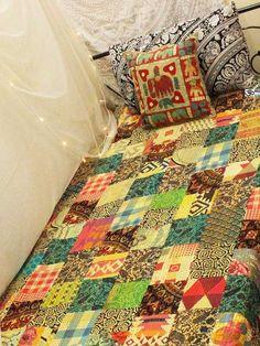 Dedicated Indian Handmade Fruit Floral Queen Cotton Kantha Quilt Ethnic Vintage Gudari Art Shrink-Proof Bedding