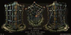 Game Art - Broken Cage, Nawaz Rajwadkar on ArtStation at http://www.artstation.com/artwork/game-art-broken-cage