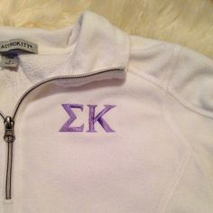 Sigma Kappa Quarter Sleeve Fleece Normal warm but overall in great shape. Light purple lettering Port Authority Jackets & Coats