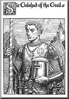 """Howard Pyle illustration from """"The Story of the Grail."""""""