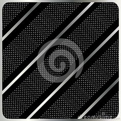 Diagonal stripes geometric pattern. Abstract black background with metallic diagonal stripes and polka dots. Digital Illustration. For Art, web, print, wallpaper, greeting card, textile, fashion, fabric, texture, Home decor and more graphic design.