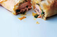 Salmon Filo Parcels with Thai butter