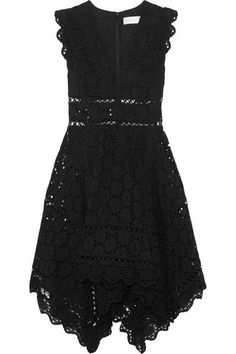 ZIMMERMANN appealing Divinity Wheel asymmetric broderie anglaise cotton mini dress