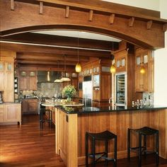 Craftsman Kitchen Design Delectable Kitchen Floors  Is Hardwood Flooring Or Tile Better  Craftsman Inspiration Design