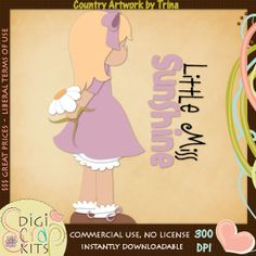 Little Miss Sunshine 1 - Trina Clark Cutting File / Paper Piece : Digi Web Studio, Clip Art, Printable Crafts & Digital Scrapbooking!
