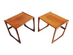 Mid-century modern teak end tables by G-plan Quadrille
