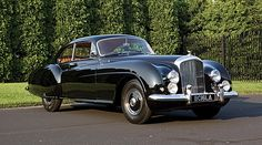 """His lordship's 'Daily Driver', a 1953 Bentley Continental-R he's always called the """"Locomotive"""". It's now painted a lovely shade of Battleship Grey."""