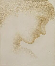 Edward Burne-Jones - Portrait of Frances, Lady Horner [Sale]