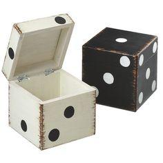 Midwest-CBK Vintage Dice Storage Box (Set of 2)