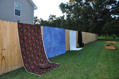 Interesting way to set up different backdrops but not for a sunny day - only a cloudy day!