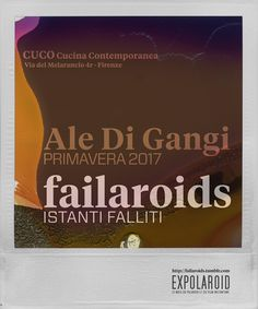 """News and details about my coming exhibition of instant photography! """"failaroids"""" will open on April 1st c/o CUCO Cucina Contemporanea in Via del Melarancio 4r Firenze. The exhibition is part of the panel of EXPOLAROID events. @guaizine and I are pleased to invite everyone for the opening on Saturday 1st of April at CUCO. Look out for a Facebook event for full details of the event. """"failaroids"""" is an idea I have been working on/collecting for during the past 10 years now taking shape as a…"""